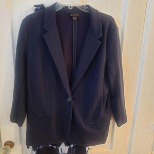 Metaphor | XL / 0X Plus Sized | Navy Suit Jacket